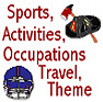 Occupations, Sports Activities Transportation Theme Icon