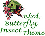 Bird, Insect, Garden Theme Logo